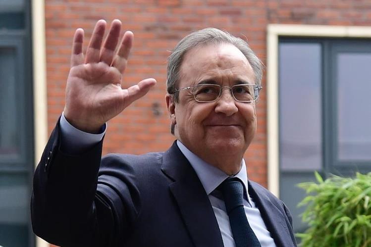 Florentino Pérez empieza este lunes un nuevo mandato en la presidencia del Real Madrid. (Foto Prensa Libre: AFP)
