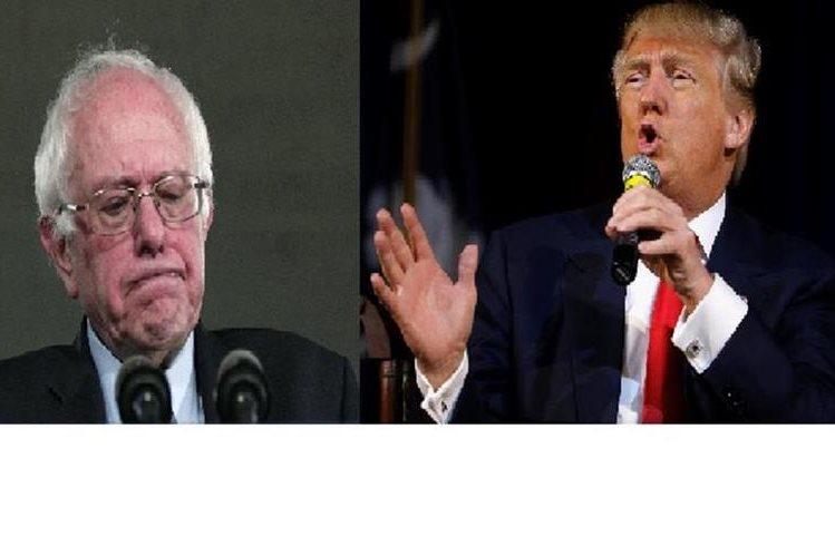 Bernie Sanders y Donald Trump les favorecen los sondeos.