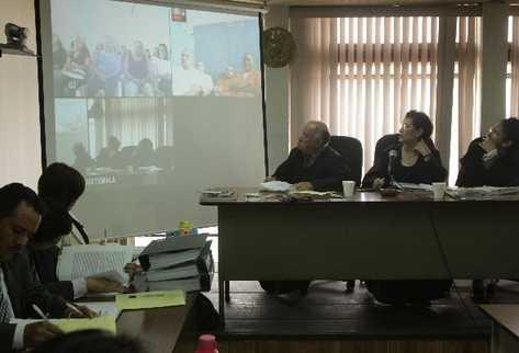 a Través de videoconferencia se desarrolla el juicio contra 32 presuntos extorsionistas.