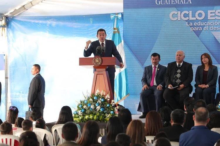 El presidente Jimmy Morales tendrá a su cargo una charla sobre políticas públicas en la actividad organizada por Aipac. (Foto Prensa Libre: Hemeroteca PL)