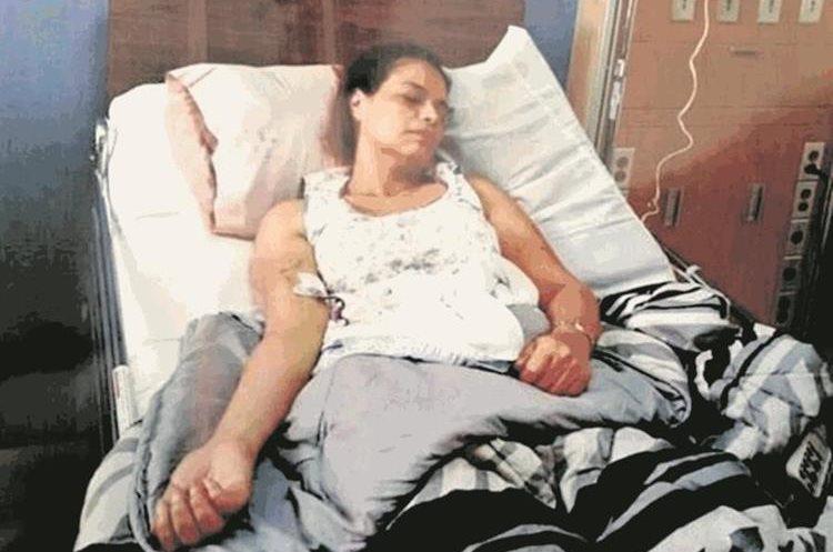 Roxana Baldetti, expresidenta de la republica, hospitalizada en el centro medico militar. Fotografia Cortesia Guatevision