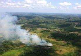 Los incendios forestales afectan particularmente a Petén y las áreas protegidas. (Foto Prensa Libre: Hemeroteca PL)