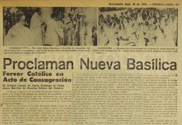 Nota de Prensa Libre del 28 de septiembre de 1970. (Foto: Hemeroteca PL)