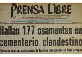 Titular de Prensa Libre del 30/10/1992. (Foto: Hemeroteca PL)