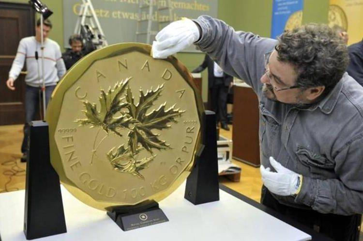 Roban la moneda de oro más grande del mundo. Foto Prensa Libre: DPA.