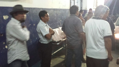 Entrada al hospital de Mazatenango, donde murió Villatoro. (Foto Prensa Libre)
