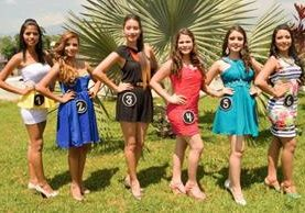 Seis son  las candidatas que disputarán la corono de Señorita Juventud. (Foto Prensa Libre: Édgar Girón)