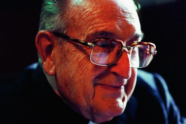 Monseñor Gerardi durante una entrevista para Prensa Libre en 1997. Foto: Hemeroteca PL