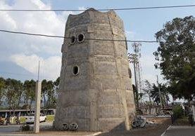 El observatorio tendrá tres pisos y una terraza. La estructura tendrá 6.5 metros de diametro y 11 metros de altura. (Foto Prensa Libre: Julio Sicán)