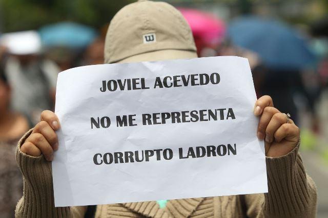 Docentes aclaran que no tiene relación con el líder magisterial Joviel Acevedo. (Foto Prensa Libre: Erick Ávila)