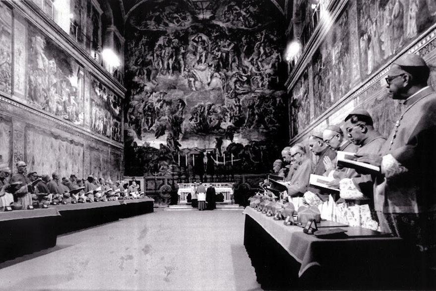 El Cónclave que se realizó días después de la muerte de Juan Pablo I el 14 de octubre de 1978 y en el que salió electo el cardenal Wojtyla. (Foto: AP)