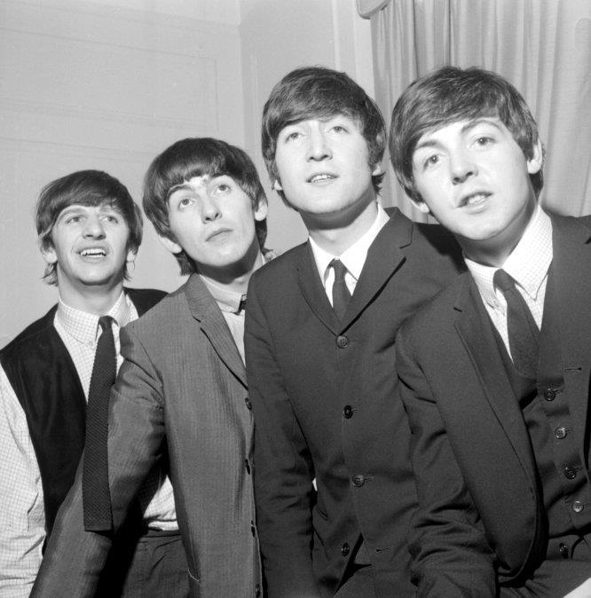 Ringo Starr, George Harrison, John Lennon y Paul McCartney, en una foto tomada en Nueva  York en 1964.