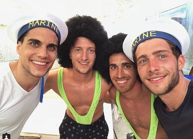 Marc Bartra, jugador del Borussia Dortmund, pasó un momento agradable con sus amigos. (Foto Prensa Libre: Instagram)