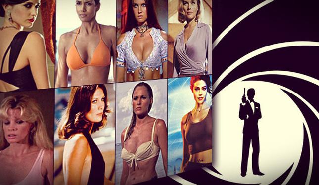 Desde su aparición en 1962, el personaje de James Bond se ha acompañado en la pantalla por bellas actrices conocidas como Chicas Bond. (Foto Prensa Libre: Tomada de la revista GQ)