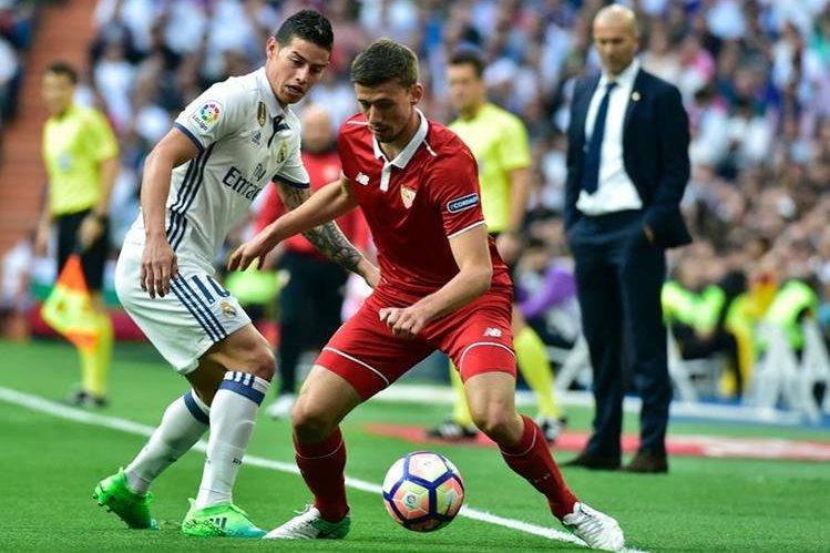 Zidane no podrá contar con James Rodríguez para enfrentar al Celta. (Foto Prensa Libre: AFP)
