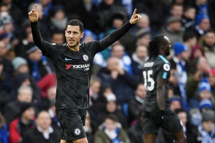 Hazard supera los 100 goles y Chelsea gana a Brighton
