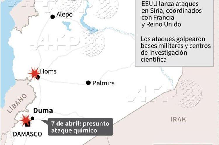 Atacan depósitos de armas en Siria