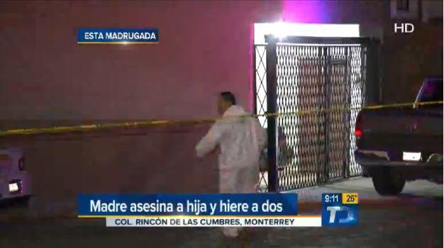 Captura de video tomada de multimedios.com, que muestra la vivienda donde ocurrieron los sucesos.
