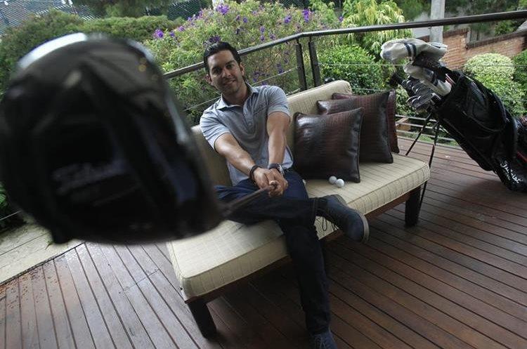 Entrevista con el golfista guatemalteco José Toledo, quien se encuentra en su mejor etapa de su carrera deportiva. (Foto Prensa Libre: Carlos Hernández)