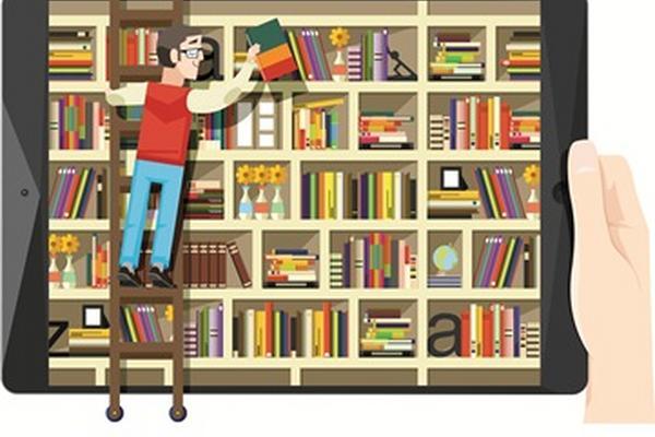 """<p>Los libros virtuales pueden bajarse desde cualquier dispositivo electrónico. (Ilustración Prensa Libre: Julio Lago M.)<br _mce_bogus=""""1""""></p>"""
