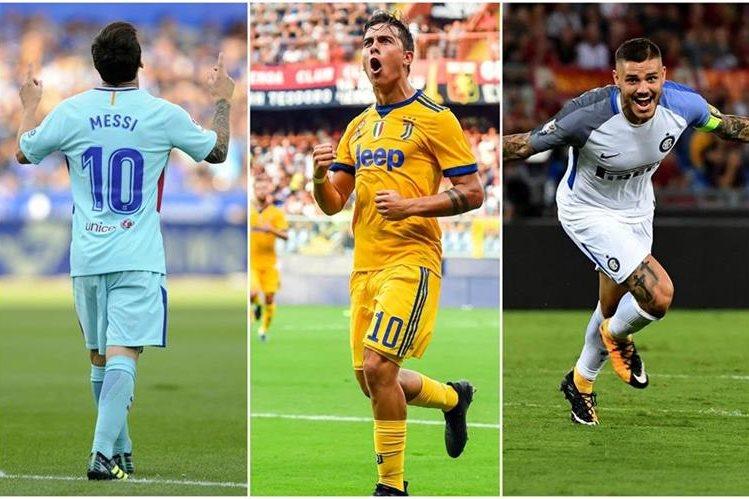 Messi, Dybala e Icardi festejaron en La Liga y Serie A, en la jornada sabatina. (Foto Prensa Libre: AP Y AFP)
