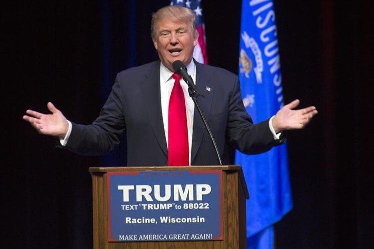 El aspirante republicano Donald Trump, durante un discurso en Wisconsin. (Foto Prensa Livbre: AFP).