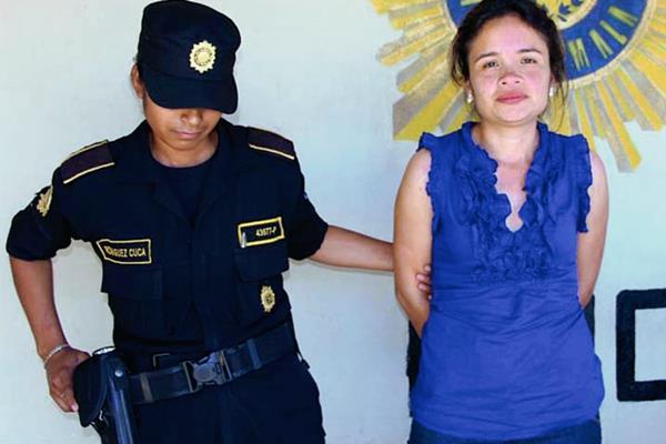 María Lorena  Palencia Salas de Vega es sindicada de lavado de dinero y otros activos en forma continuada  y conspiración. (Foto Prensa Libre: Walfredo Obando)
