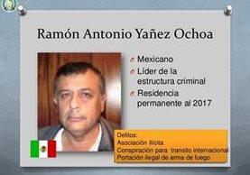 Ramón Antonio Yáñez Ochoa fue capturado por narcotráfico en septiembre del 2012 y condenado a 28 años de prisión. (Foto HemerotecaPL)