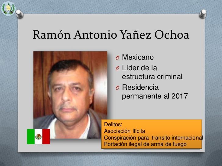 Resultado de imagen para Ramón Antonio Yáñez Ochoa narcotraficante