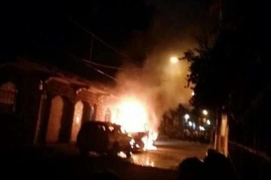 Disturbios registrados en diciembre último en La Democracia, Escuintla. (Foto Prensa Libre: Hemeroteca PL).