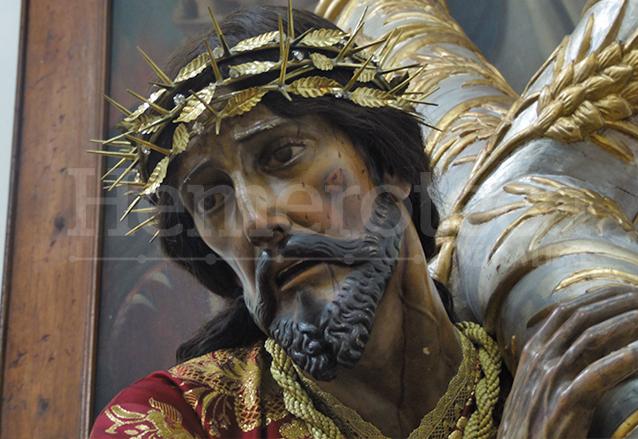 Jesús Nazareno de la Dulce Mirada que se venera en la Rectoría El Carmen, zona 1. (Foto: Néstor Galicia)