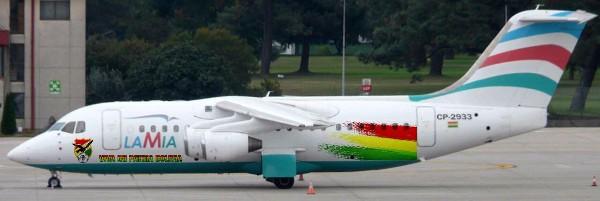 La aerolínea Lamia tuvo origen venezolano, pero luego se constituyó en una empresa boliviana.(AFP).
