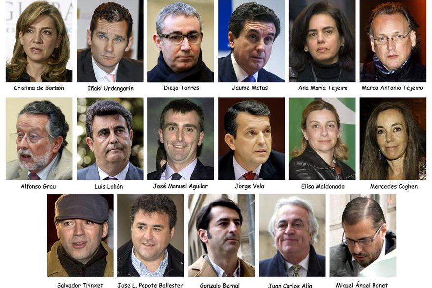 Fotografías de los acusados en el caso de corrupción.(EFE).