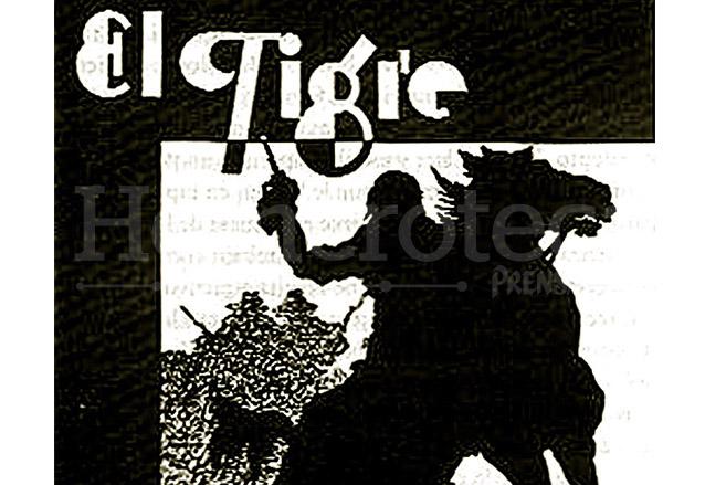 Detalle de la portada de la tercera edición de la novela El Tigre de Flavio Herrera de 1934. (Foto: Hemeroteca PL)