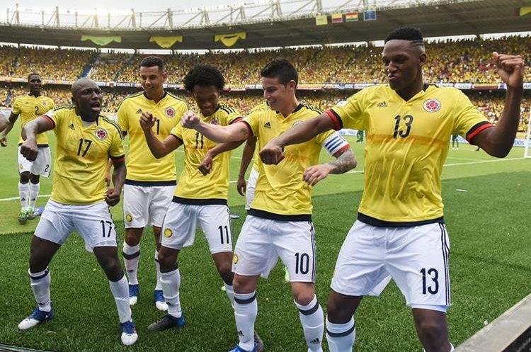 Los colombianos bailaron en el festejo contra Bolivia.