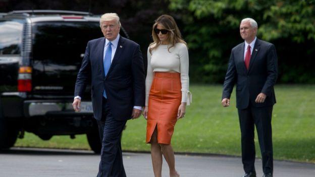Este viernes Trump emprendió su primer viaje internacional como presidente de EE. UU. EPA