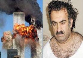 Autoridades estadounidenses afirman que Jaled Cheij Mohamed (d), es el autor intelectual de los atentados terroristas a las Torres Gemelas en 2001. Foto: Agencias