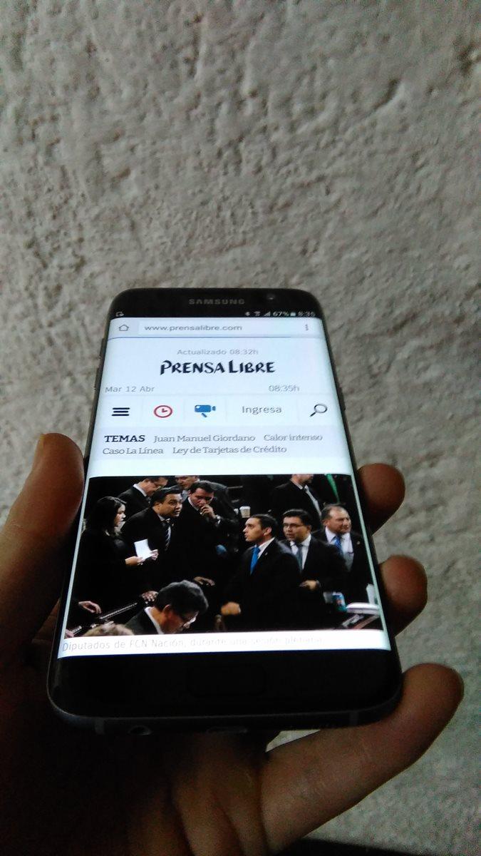 Las webs abarcan también los bordes edge del terminal. (Foto: Hemeroteca PL).