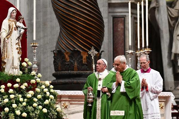 El Papa oficia una misa especial del Jubileo dedicada a los presos. (AFP).