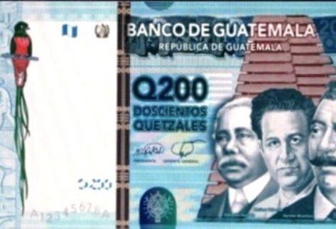 Nuevos billetes de Q200. (Foto Prensa Libre: Archivo)