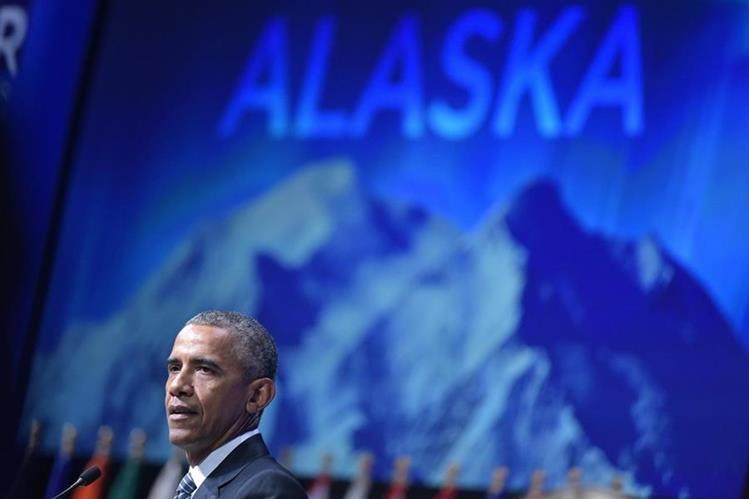 <em>Obama pintó un escenario apocalíptico para el Ártico. (Foto Prensa Libre: AFP).</em>