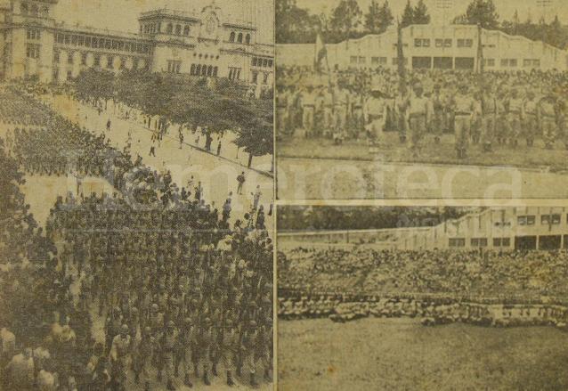 A la izquierda desfile del Ejército el 30 de junio de 1958, a la derecha, el desfile militar del año 1959. (Foto: Hemeroteca PL)