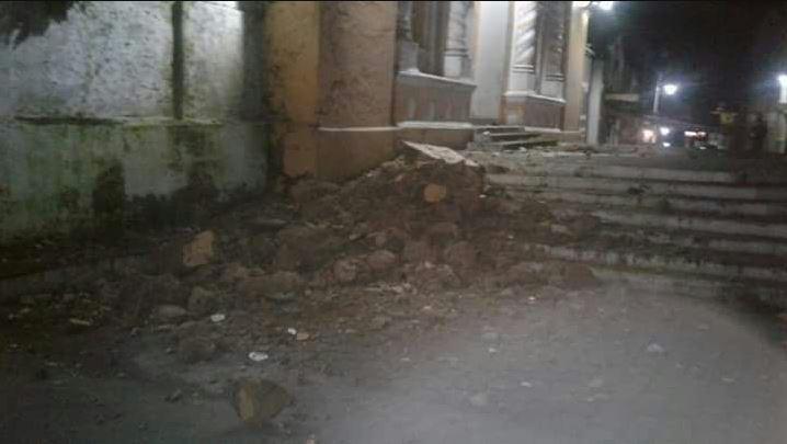 Daños en Iglesia de Samayac, Suchitepéquez.