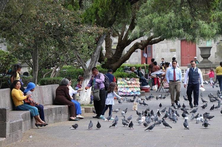Parque central de Quetzaltenango.(Prensa Libre: María José Longo)