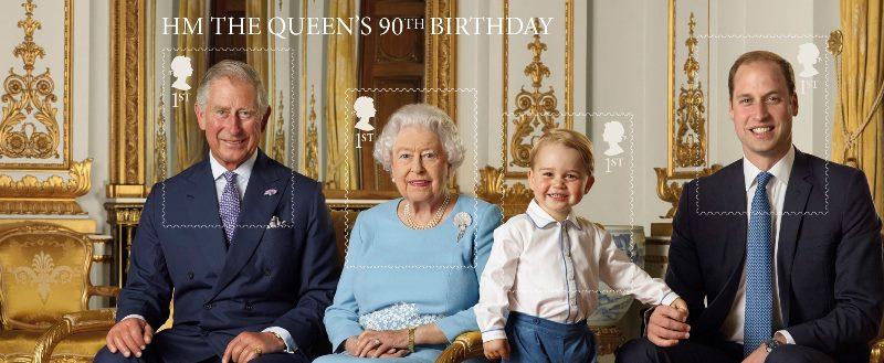 La imagen será utilizada para la emisión de sellos postales de la reina y sus herederos. (Foto Prensa Libre: EFE)