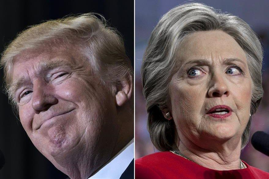 El presidente electo de EE. UU., Donald Trump, (i), no presentará cargos contra Hillary Clinton (d).