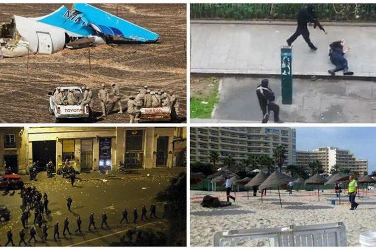Países de todos los continentes se vieron afectados por la ola de terrorismo del 2015. (Foto: agencias).
