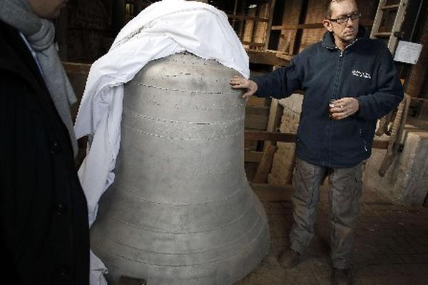 <p>Las cuatro campanas, de 80 kilos cada una, fueron fundidas en Buenos Aires.</p>