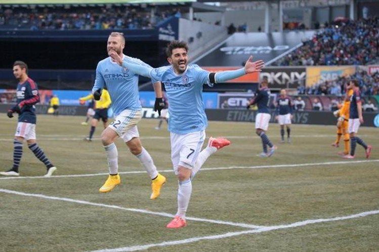 El delantero español David Villa anunció que seguirá un año más con el New York City de la MLS. (Foto Prensa Libre: New York City)