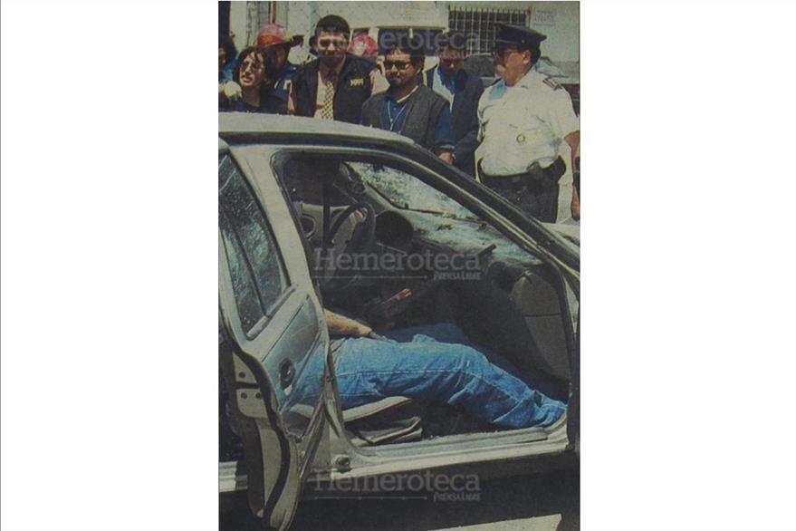 15/8/2001 Escena del crimen  donde son asesinados cuatro prófugos  en la zona 7. (Foto: Hemeroteca PL)